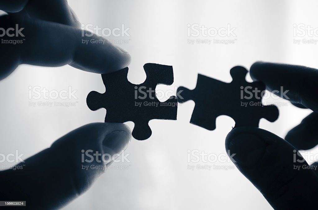 Male and Female piece - connection royalty-free stock photo