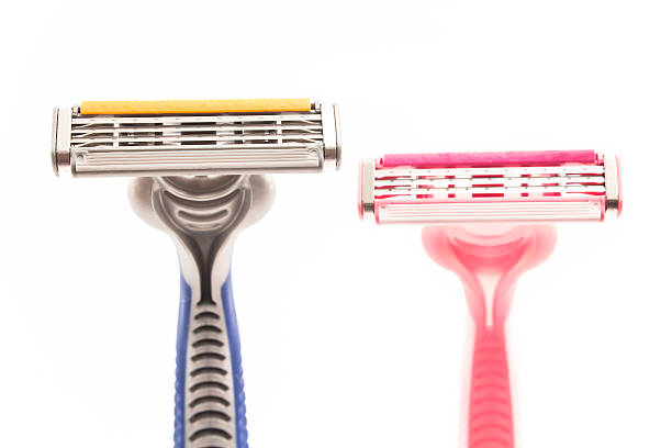 Male and female razor stock photo