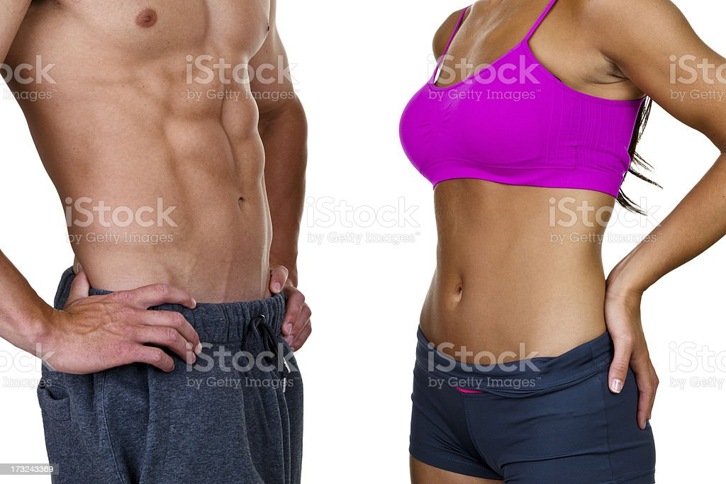 Male and female torso royalty-free stock photo