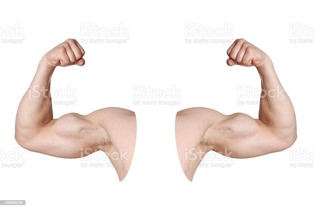 Männliche Arme Zu Beugen Des Bizeps Muskeln Stock-Fotografie und ...