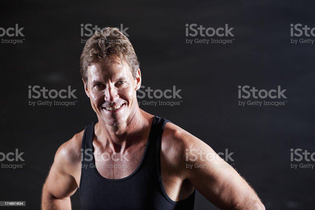 Male athlete royalty-free stock photo