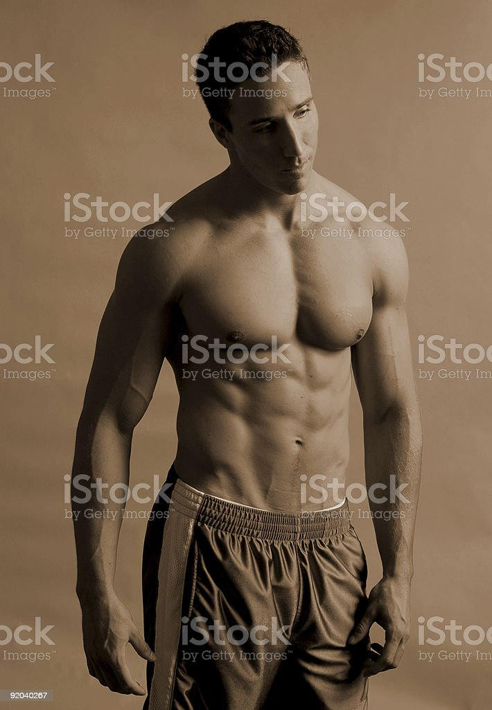Male athlete royalty-free stock photo