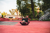 istock male athlete practising parkour in the street in summer day b 1089394550