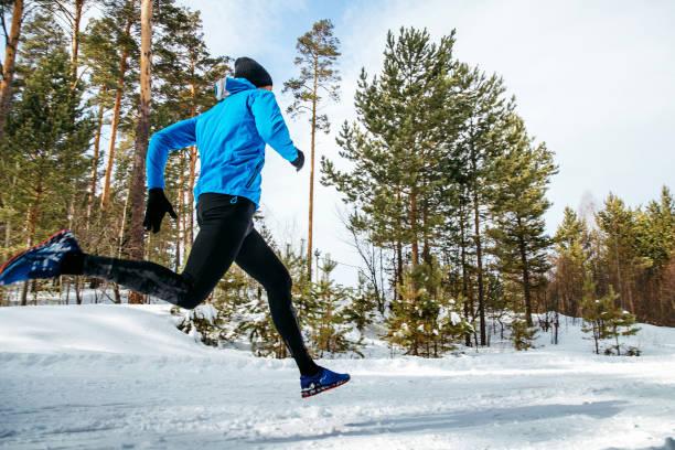 corredor atleta masculino - foto de stock