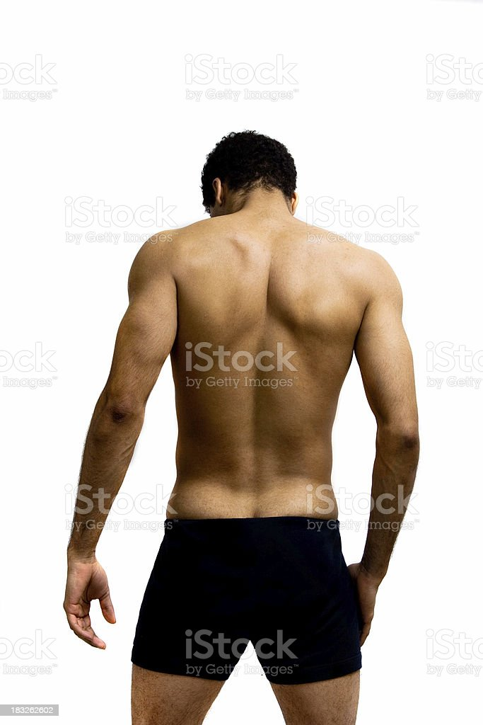 Male back stock photo