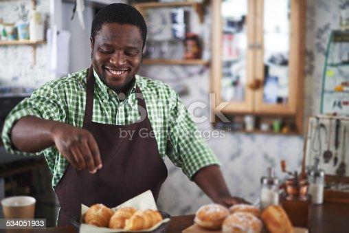 istock Male baker 534051933