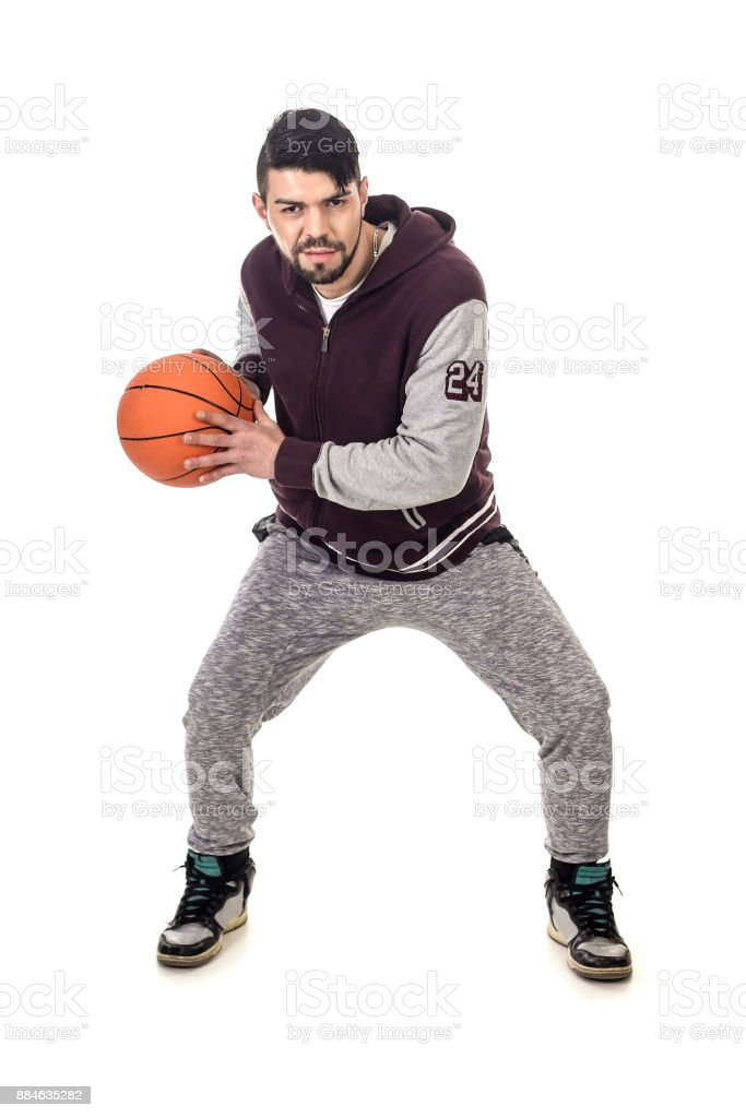 Male basketball player stock photo