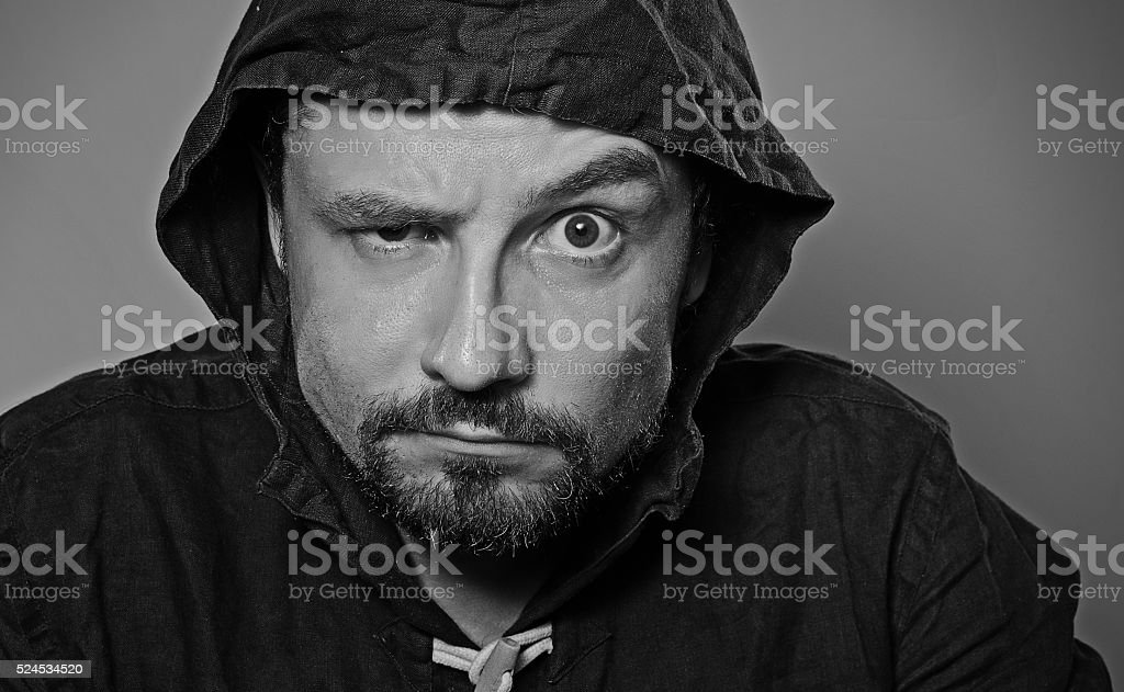 male, bearded, emotions, emotion, suspicion, hoodie, rage, anger, a...