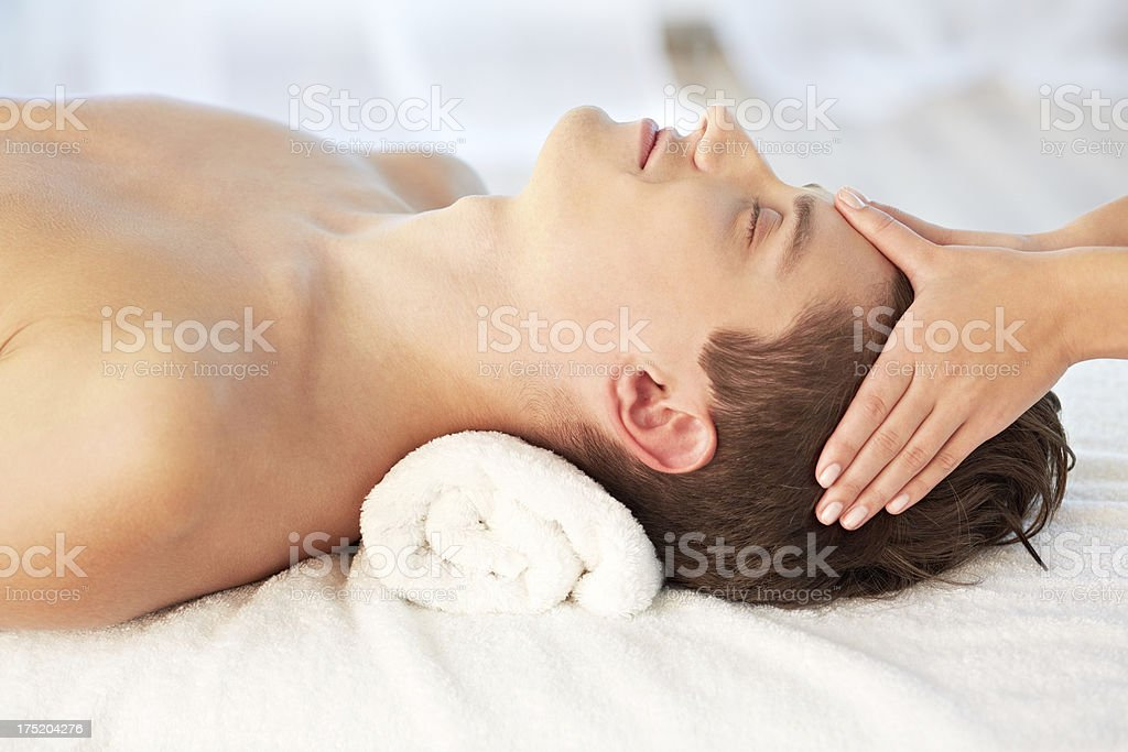 Male beauty and relax time royalty-free stock photo