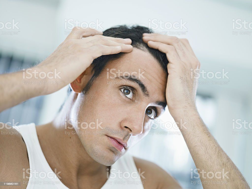 male beauty stock photo