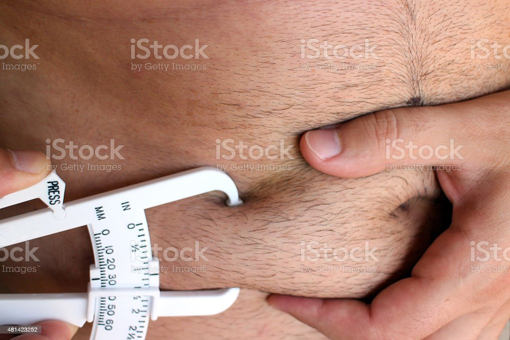 Male Body Fat stock photo