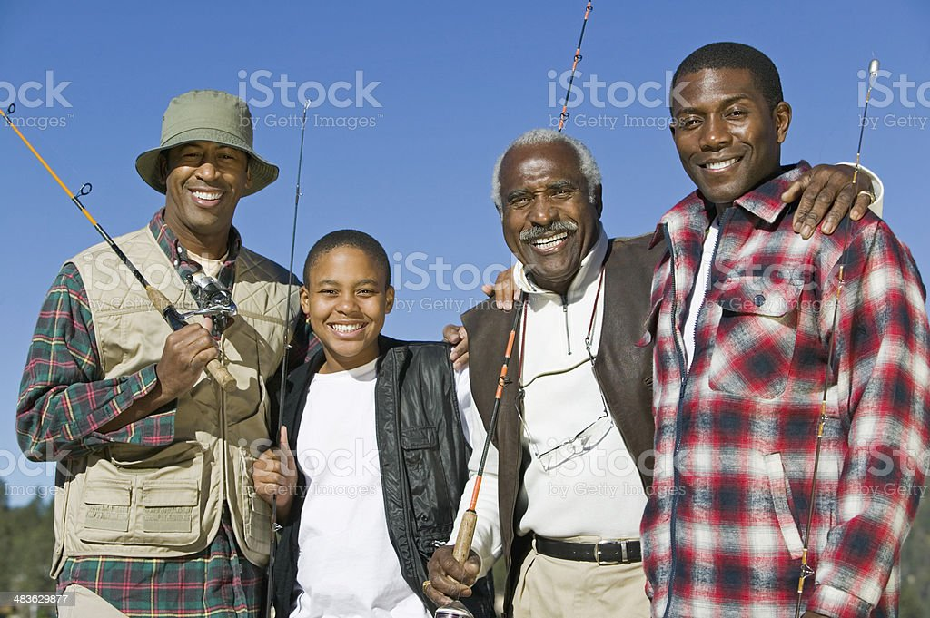 Male Bonding on Fishing Trip stock photo