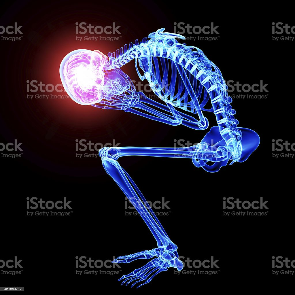 male brain pain stock photo