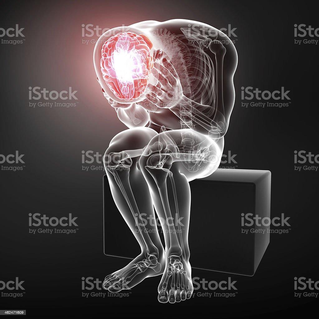 male brain pain stock photo