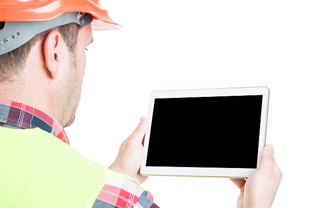 Male builder with digital tablet – Foto