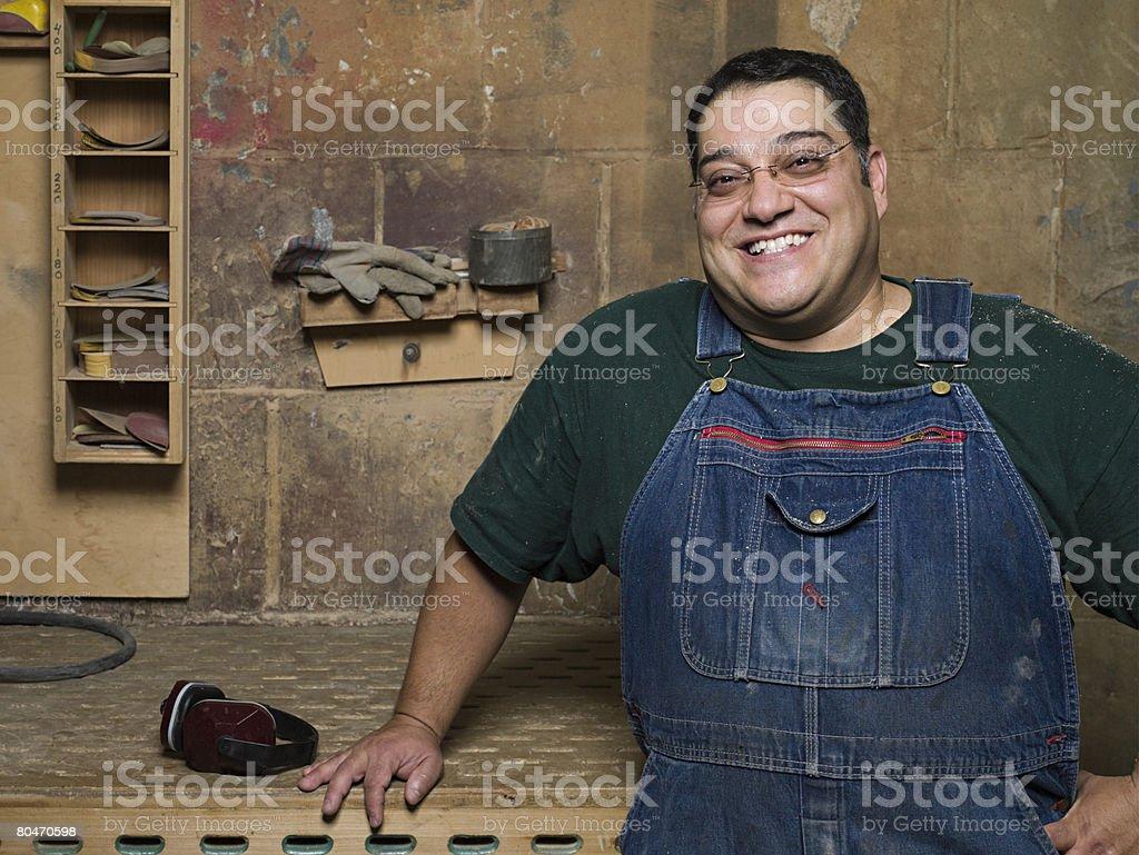 Männliche carpenter Lizenzfreies stock-foto
