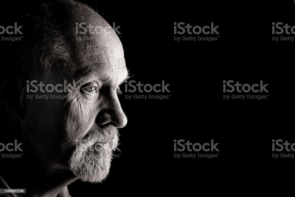 Male caucasian from side stock photo