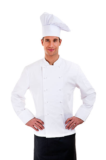 male chef isolated stock photo