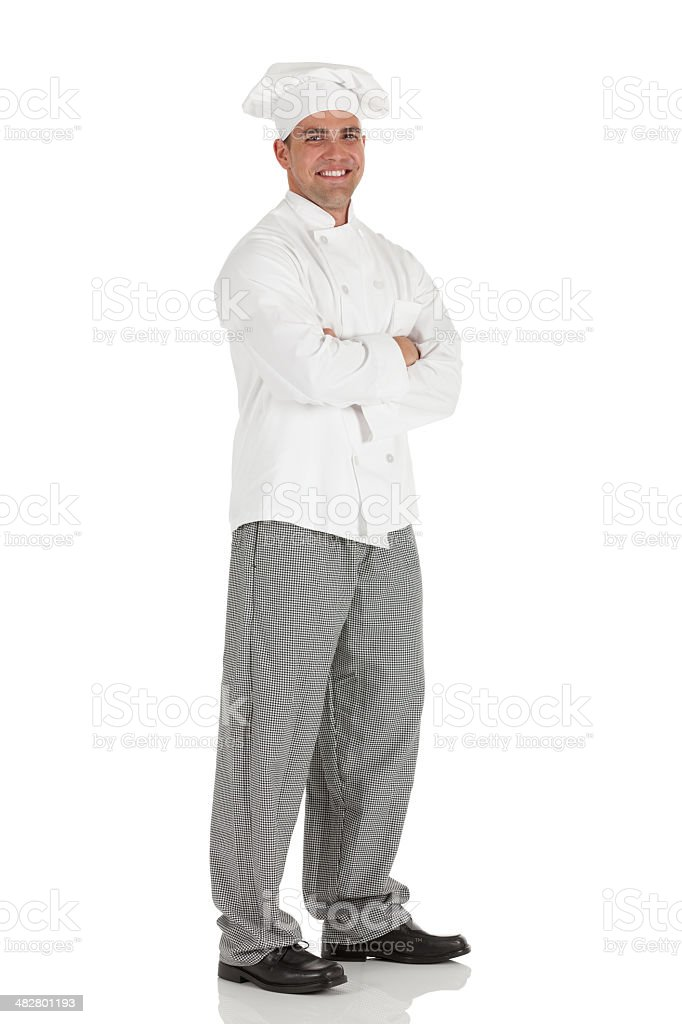 Male chef standing with his arms crossed royalty-free stock photo