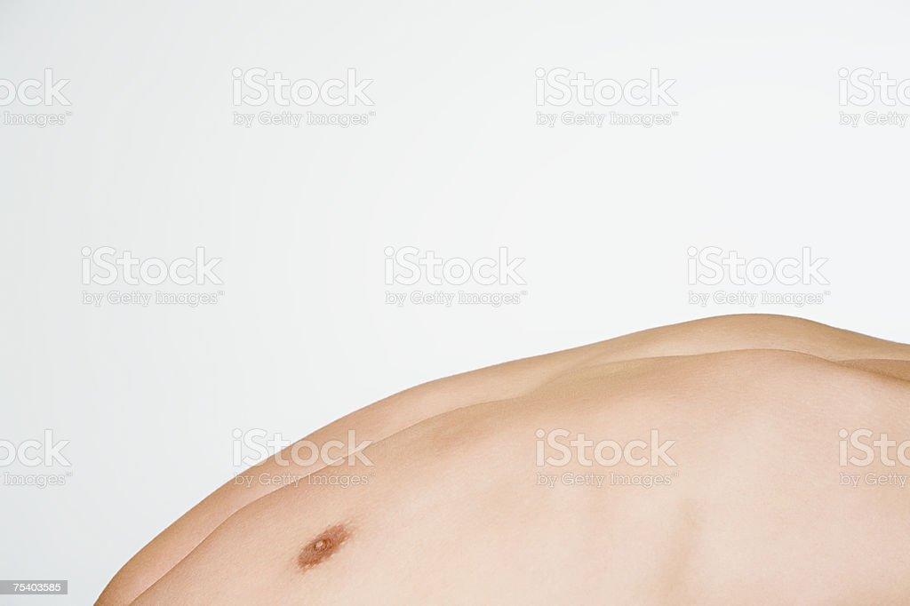 Männliche der Brust Lizenzfreies stock-foto
