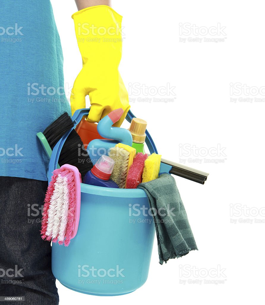 male cleaning service royalty-free stock photo