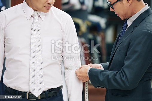 istock Male client in atelier 1126306312