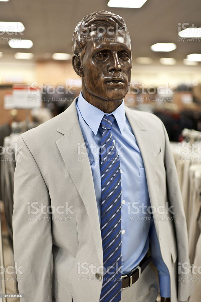 Male clothing at a deparment store royalty-free stock photo