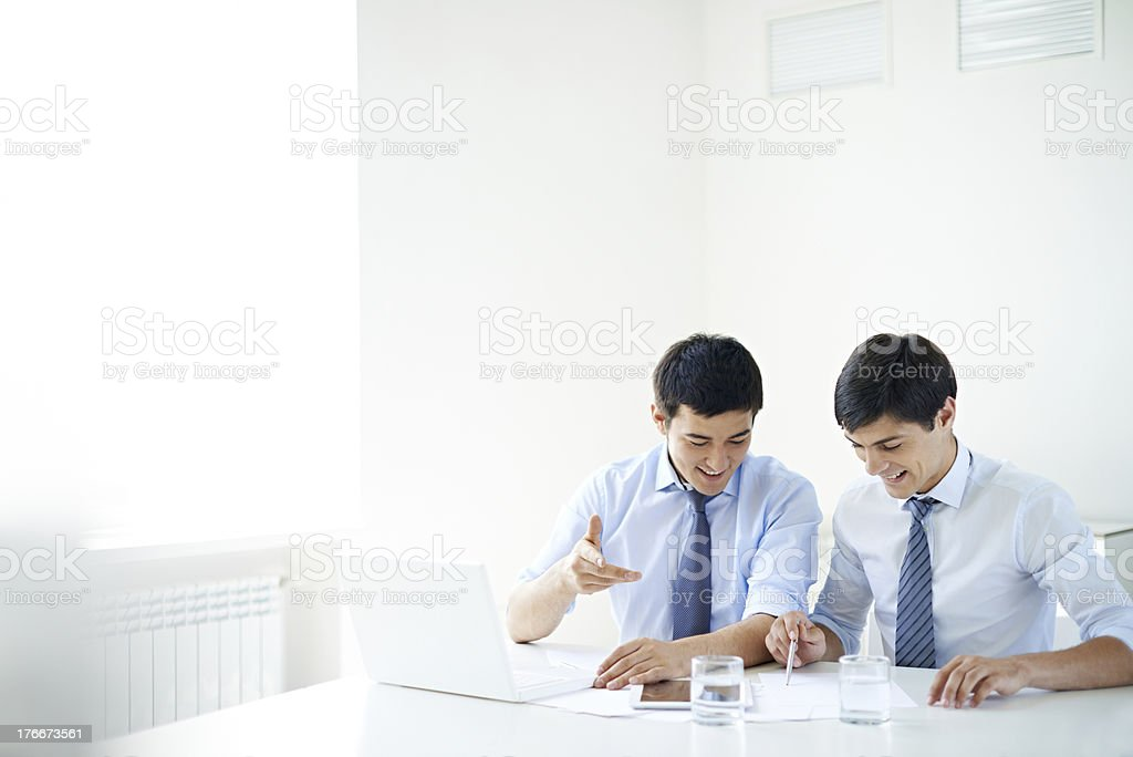 Male colleagues royalty-free stock photo