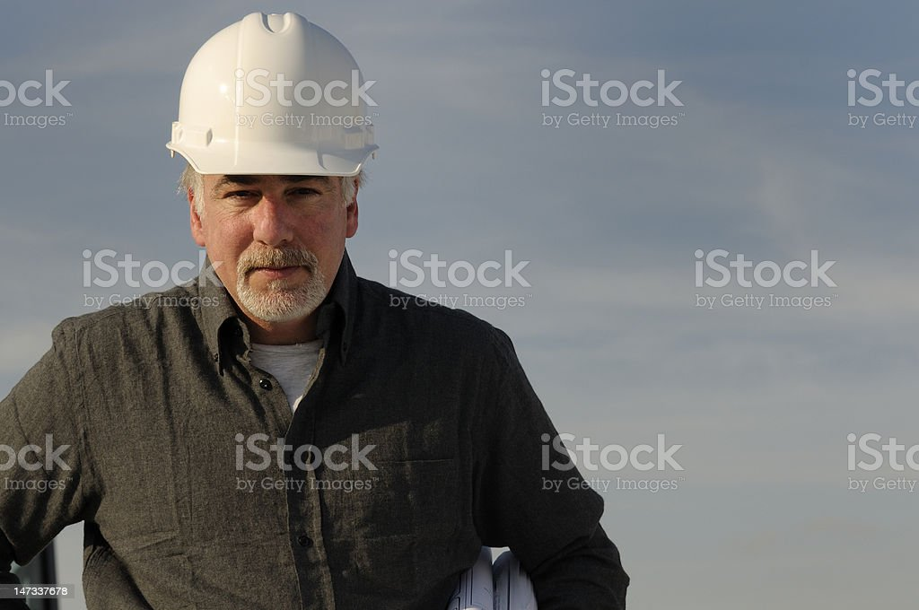 Male construction worker royalty-free stock photo
