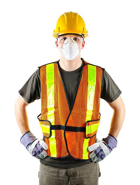 Bau Arbeiter tragen Sicherheitsausrüstung – Foto