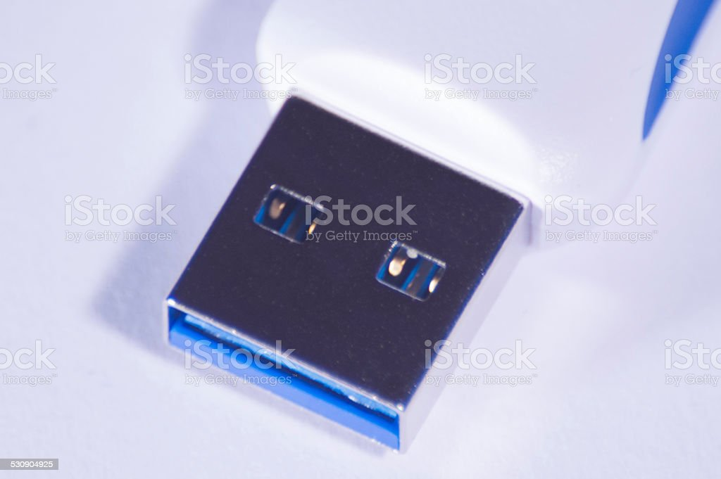 USB 3 male contact stock photo