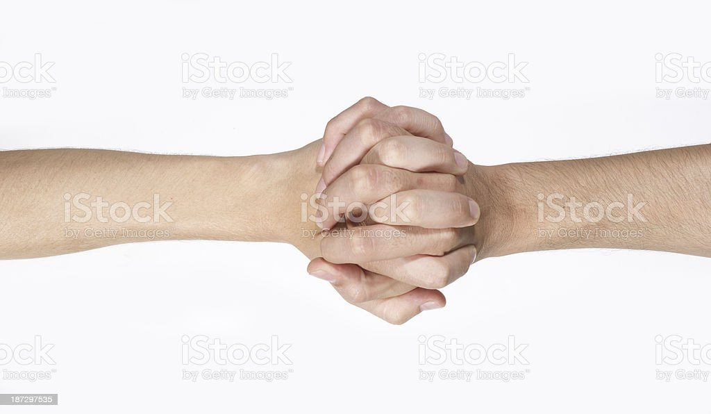 Male Couple holding hands royalty-free stock photo