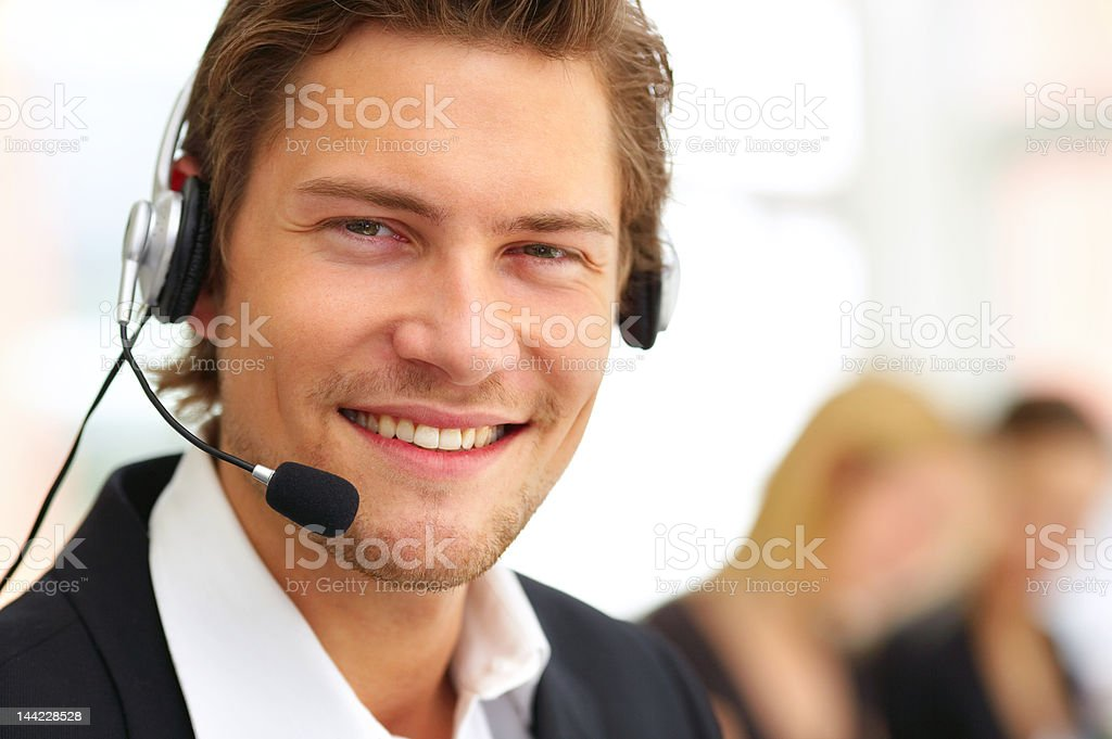 Männliche Kundenservice Lächeln Lizenzfreies stock-foto