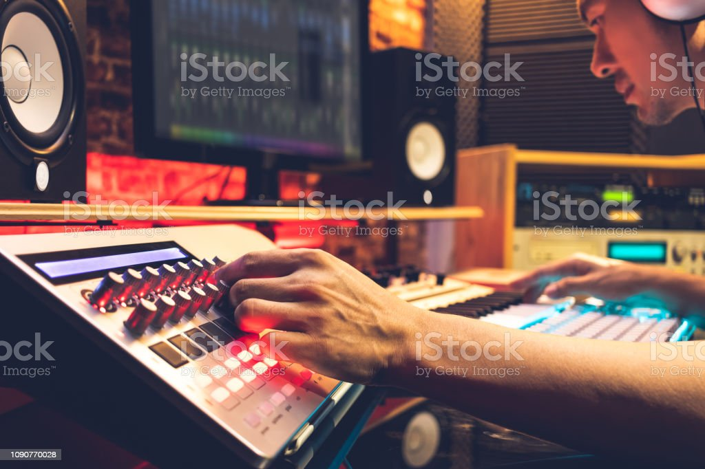 Male Dj Producer Composer Sound Engineer Editor Working In