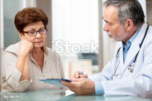istock Male doctor explaining something to female patient 164108124