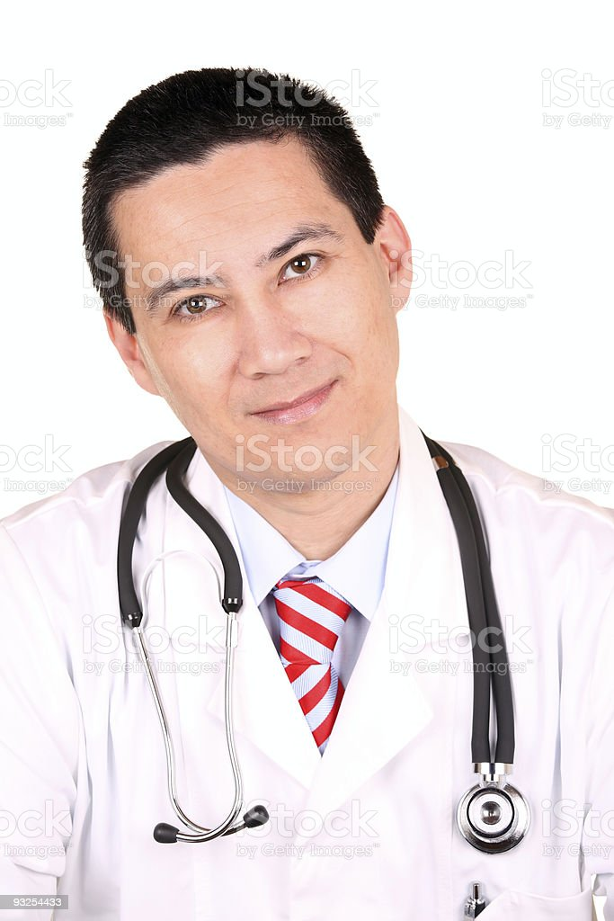 Male Doctor Front stock photo