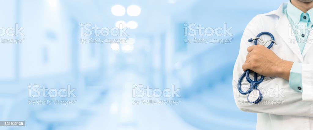 Male Doctor in the Hospital stock photo