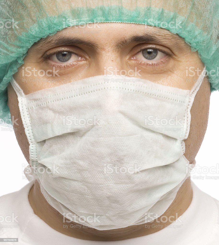 Male doctor wearing a mask royalty-free stock photo