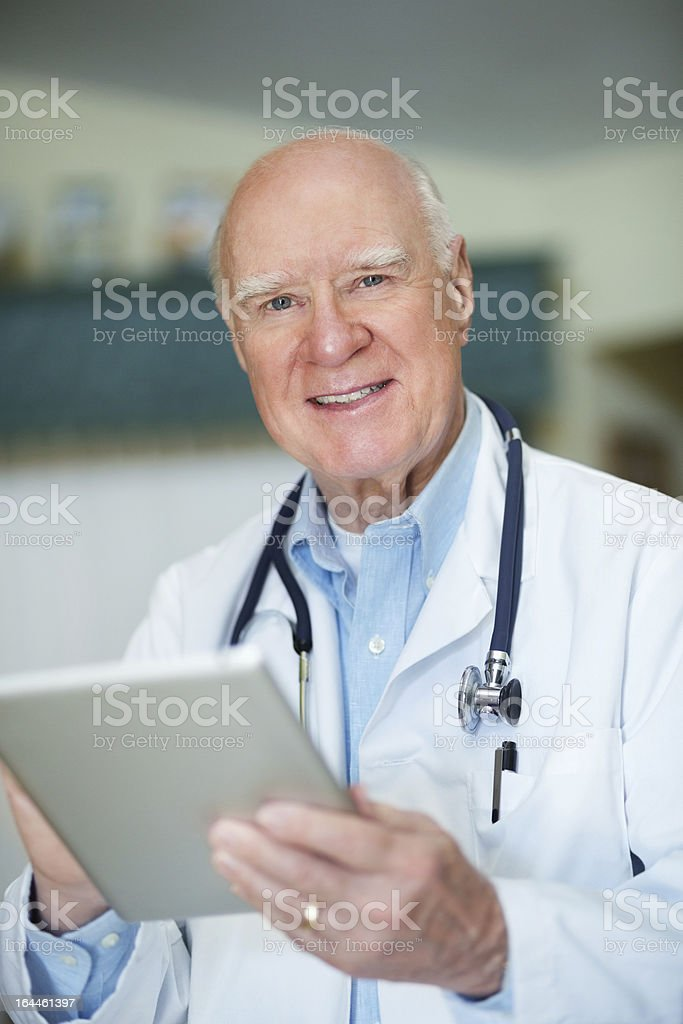 Male Doctor With Digital Tablet royalty-free stock photo