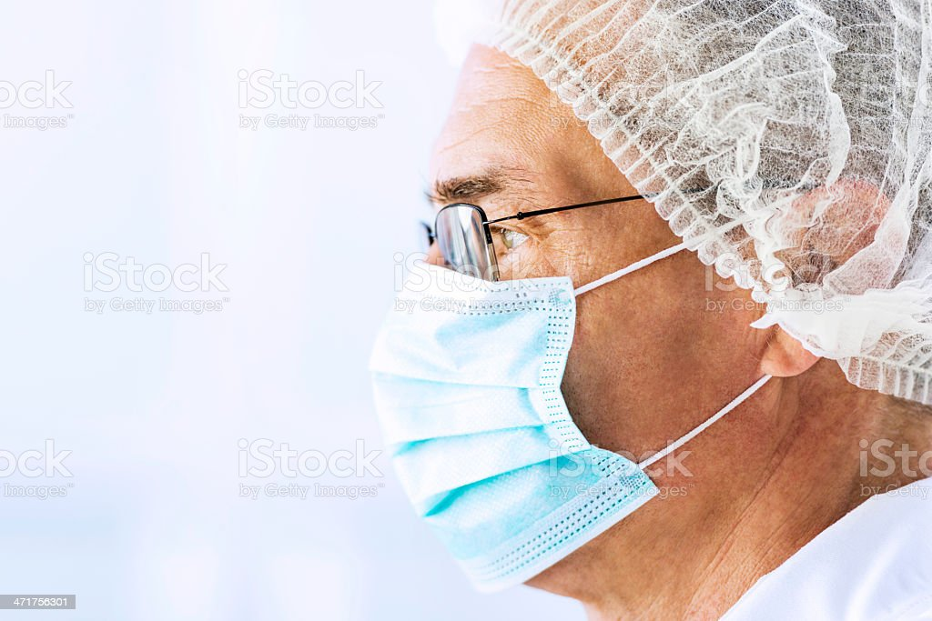 Male doctor with surgical mask. royalty-free stock photo