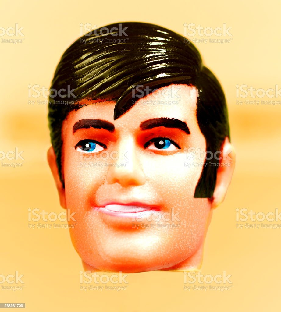 Male Doll Head stock photo