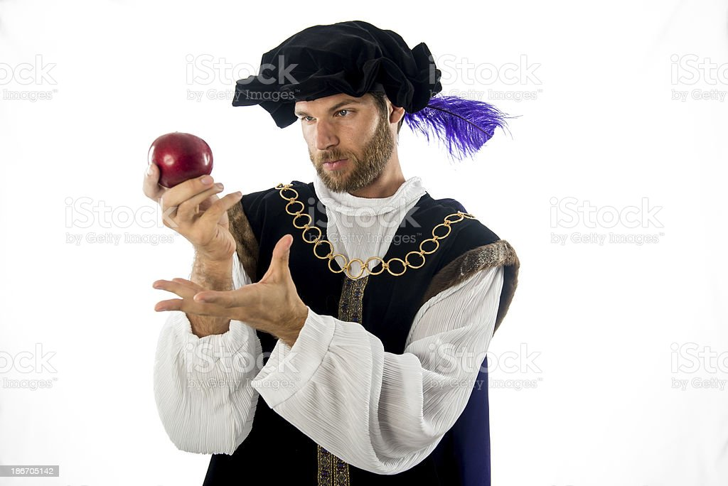 Male Dressed up in 16th Century Clothing stock photo