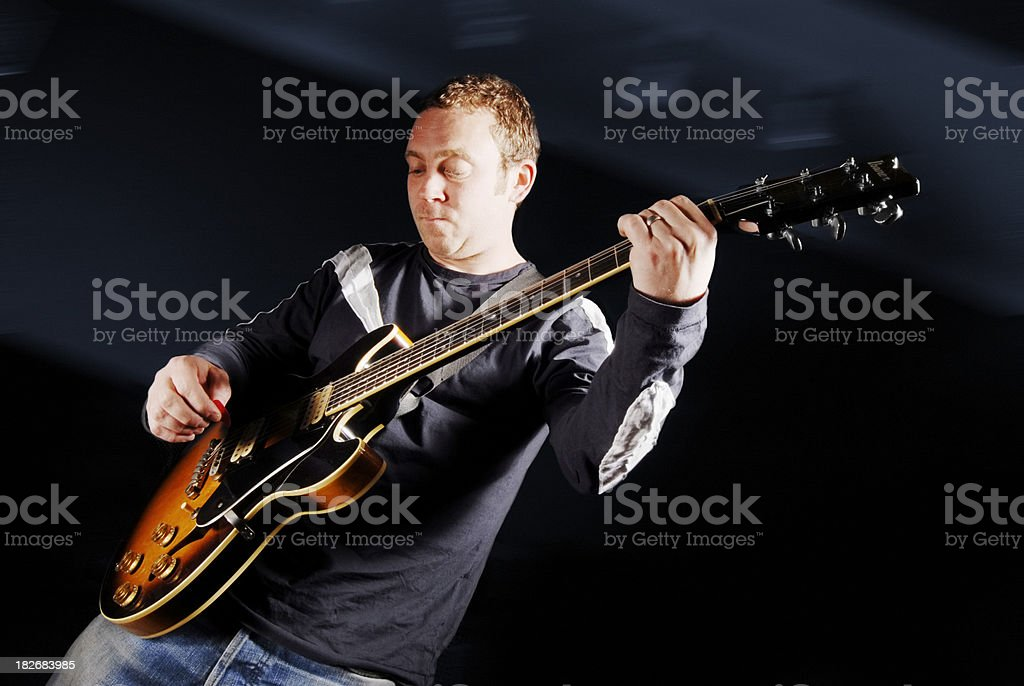 Electric Guitar Player Live on stage