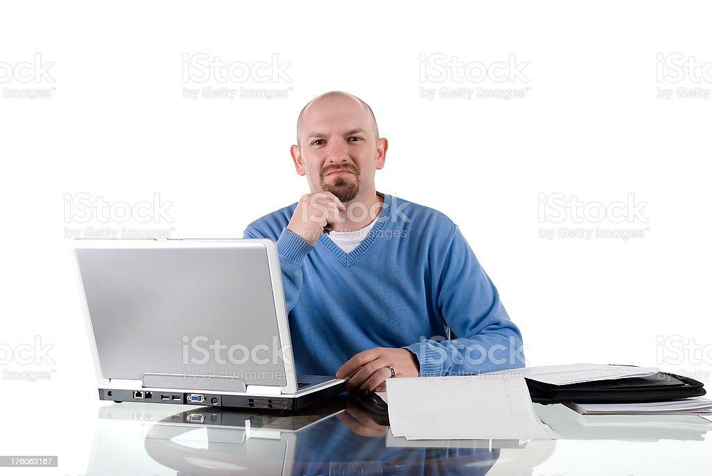 Male employee stock photo
