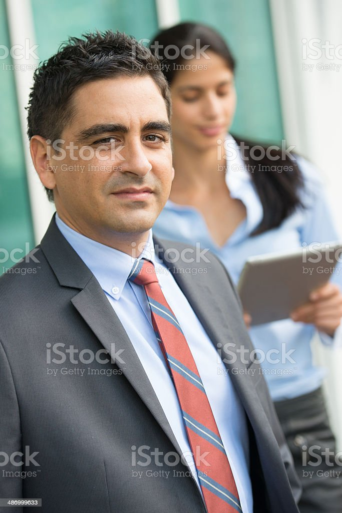 Male Executive and his secretary royalty-free stock photo