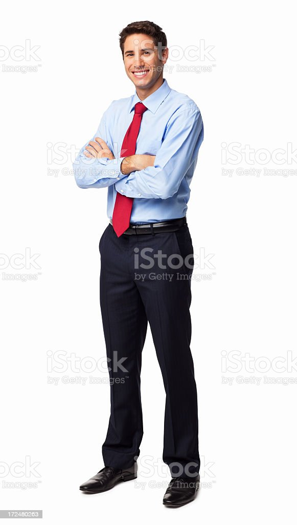 Male Executive Standing With Arms Crossed - Isolated stock photo