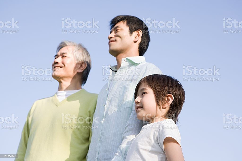 Male family looking away royalty-free stock photo