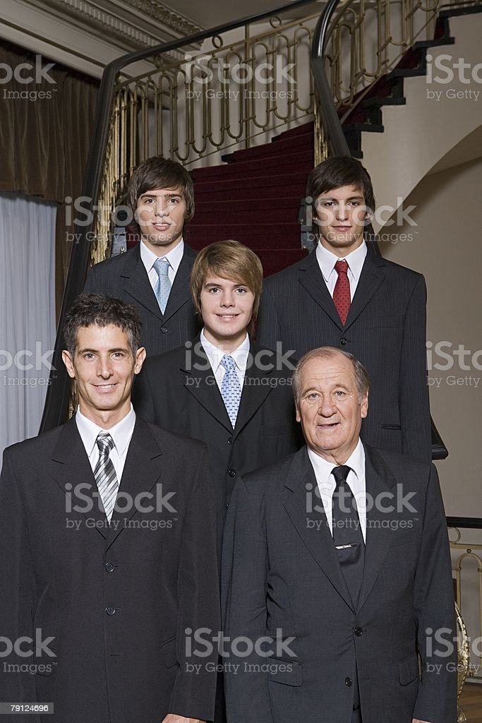 Male family members in suits royalty-free 스톡 사진