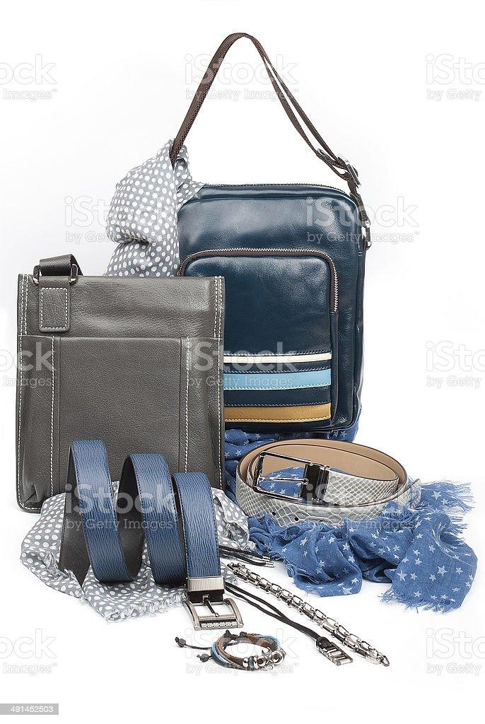 male fashion accessories stock photo