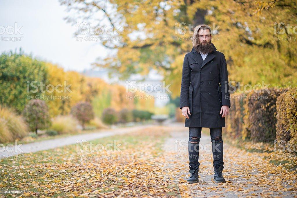 Male Fashion, Fall Colors stock photo